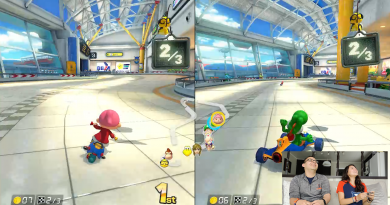 Jose and Jessica playing Mario Kart 8