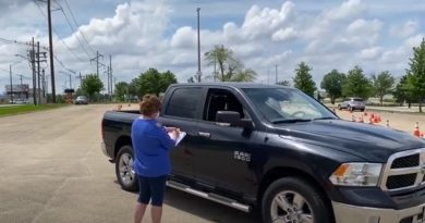 Drive-up testing at Market Place Mall