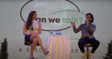 """Penn Badgley and Dr. Nura Mowzoon visit campus for their new """"Can We Talk?"""" discourse series"""